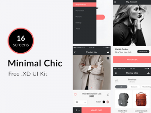 Minimal Chic - Free UI Kit